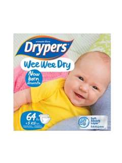 Drypers Wee Wee Dry Diapers - New Born (<5kg)