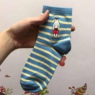橫條紋襪子