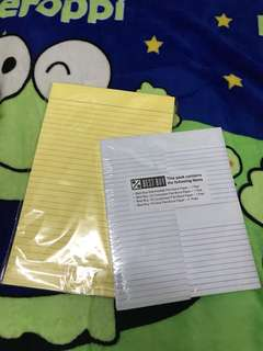 Yellow Pas & Pad Papers