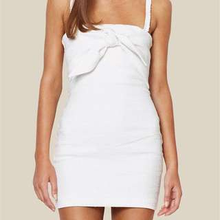 BEC AND BRIDGE UNDER EAVE MINI DRESS WHITE SIZE 6