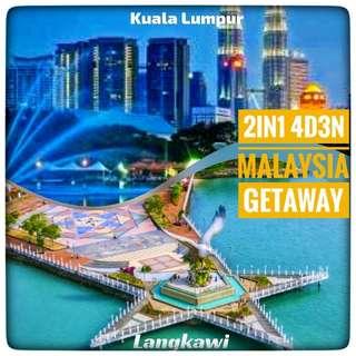 2in1 4d 3n Malaysia Kuala Lumpur-Langkawi All in Package
