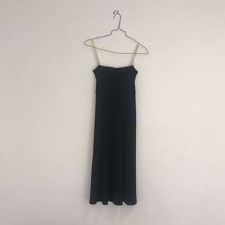 Sacha Drake Black silk-like strapless dress, XS