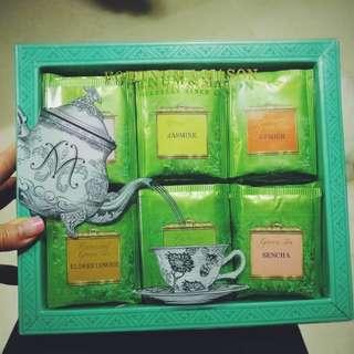 🈹🎁Fortnum & Mason F&M 綠茶茶包精選禮盒裝Green Tea Bag Selection全新未開封~(原價$168)