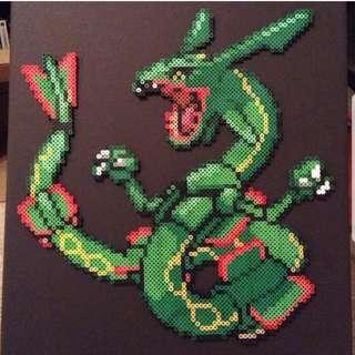 Hama beads design Anime pokemon rayquaza