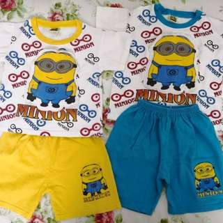 Boys Set with minions 3 & 4 years old