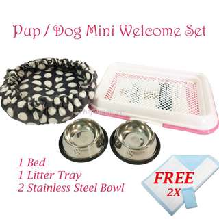 OOS- Pup / Dog Mini Welcome Set - PINK