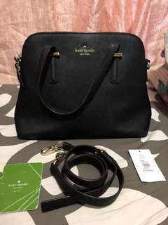 Authentic kate spade leather 2 way bag
