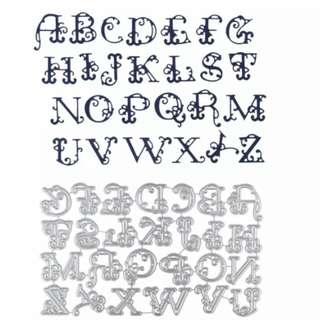 BN swirl alphabet set