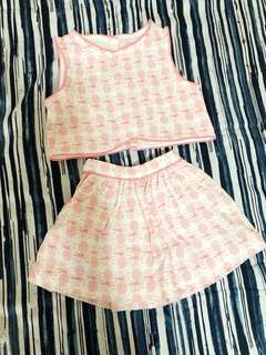 Gingersnaps Top and Skirt