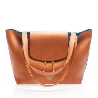 BNWT Sometime by Asian Designers Totie Brown Tote Handbag