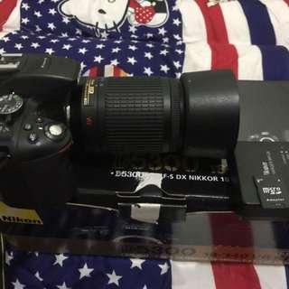 Nikon D5300 lens 55-200mm