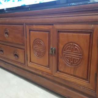 Rosewood TV console