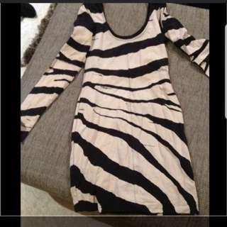 Sass and bide zebra prints dress