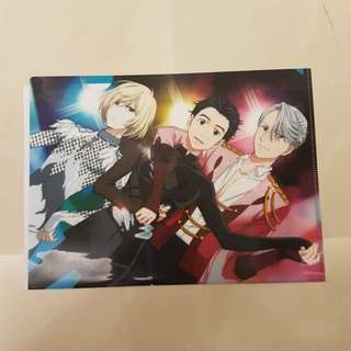 Anime Yuri on ICE - Clear File Folder / Map
