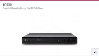 全新LG BP250 Blu-ray/DVD player