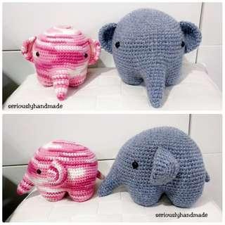 Crochet Elephant / Amigurumi (pls pm for Price)