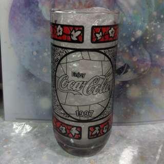 絕版古董1997年可口可樂玻璃杯 coca cola glasses 1997 ver. vintage