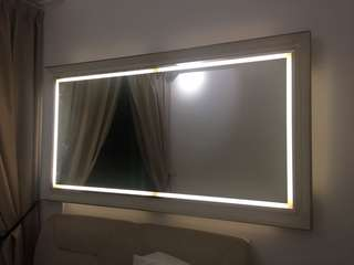 Led mirror with frame 2.3 by 1.6 (pre order)