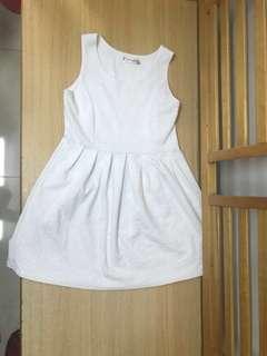白色 斯文 grad din 禮儀 長裙 禮服裙 晚裝 連身裙