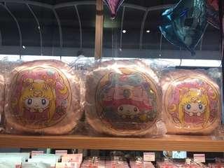 全新現貨 日本代購 Sailor moon x my melody cafe期間限定 美少女戰士 雙面cushion