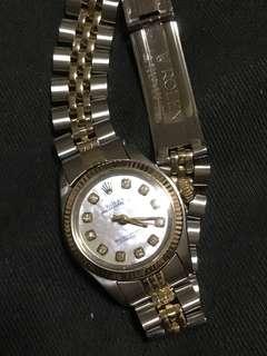 Ladies Rolex 24mm custom mop diamond original dial