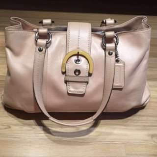 Authentic Coach Large Tote in pale Pink