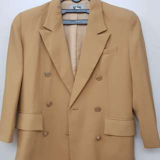 Brown Button Blazer for Fashionista or Career Woman