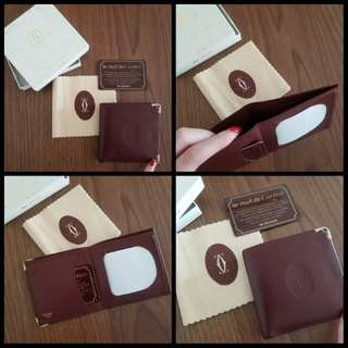 90%New CARTIER Wallet 酒紅色皮夾 Fullset