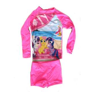 Girls Long Sleeves Rash Guard Shorts Set