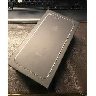 iPhone 7+ 亮黑 盒,連盒內未用全新配件