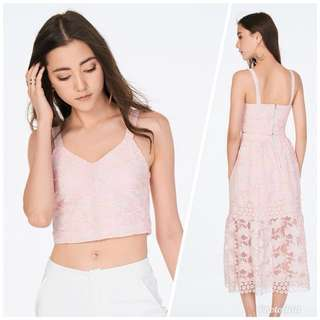 The Closet Lover SHANNA EMBROIDERED TOP IN PINK