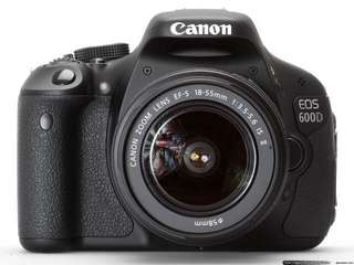 Canon 600D (body only)and sigma 18-35mm f1.8
