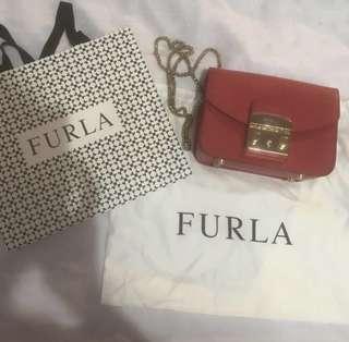 Furla Authentic Metropolis Mini Crossbody Bag - Red