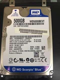 Wd 500GB HDD (SATA3) Notebook