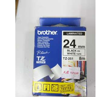 Brother TZ Tapes - Label Printer - 24mm