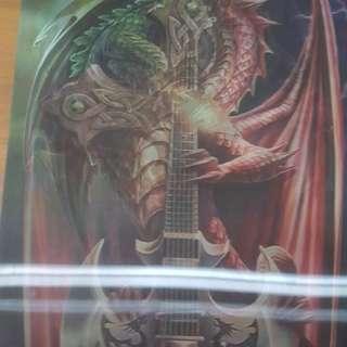 Dragon w guitar / cross