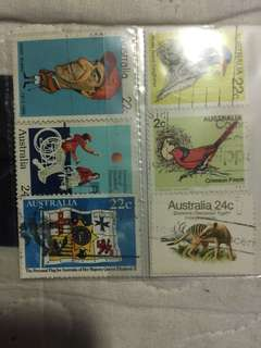 Australia stamps 3 in a pack
