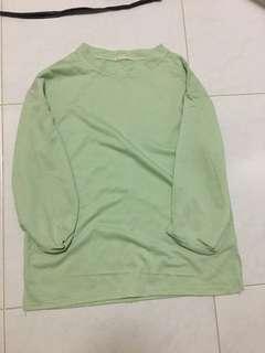 Pastel green oversize top