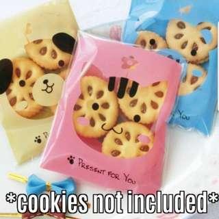 New Cookie Treats Animal Design Plastic Pouch 10cm