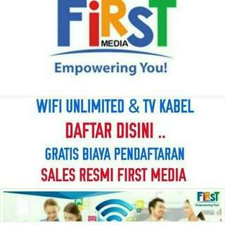 First media  ( Internet unlimited & Tv cabel )