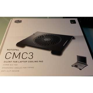 "Cooler Master Notepal Silent Fan Laptop Cooling Pad CMC3 (up to 15"")"