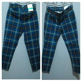 Checkered Straight Pants
