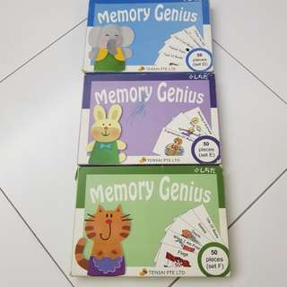 Memory Genius set d, e and f