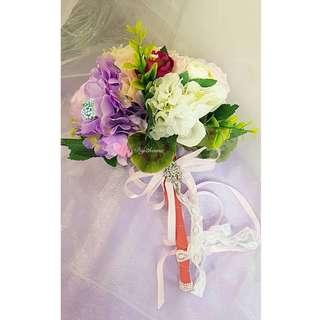Diy獨一無二新娘絲花花球歡迎購買或訂製