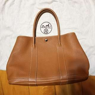 Hermes Garden Party 36 Gold Leather