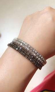 Crystal bangles ( Black & White 2Pcs)