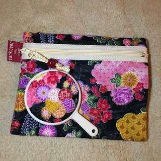 日本製 和風小物袋 連小鏡