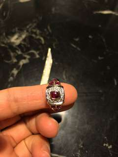 Ruby diamond with 18K yellow gold and 18k white gold