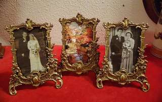 Victorian Antique bronze frame From Italian.