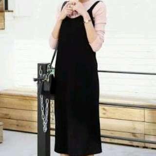 Korean dress dark gray